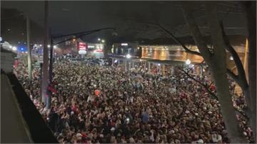 歡慶在地球隊NCAA奪冠 美民眾上街群聚開趴