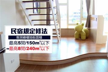 民宿管理大鬆綁 客房最多5間放寬至8間