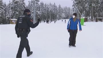 武肺疫情沒在怕 德國人搶擠滑雪勝地大塞車
