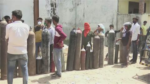 單日新增確診破34萬 印度首都圈封城至5/3