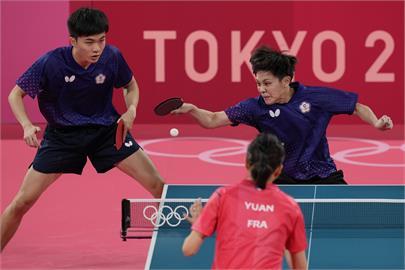 東奧/銅牌到手!林昀儒鄭怡靜桌球混雙直落4擊退法國 終結台灣21年來奧運桌球零獎牌