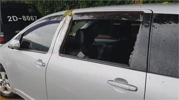 基隆連日大雨土石滑落 車輛遭砸幸無人員受傷