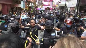 港人上街抗議國安法 港警祭催淚彈、水砲逮上百人