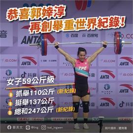 快新聞/2021亞錦賽「舉重女神郭婞淳」搶下東奧門票 蔡英文:史無前例的成就