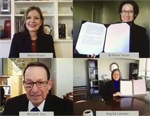 快新聞/簽署台美教育合作備忘錄 蕭美琴:雙向語言教育是文化交流的重要基礎