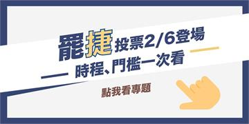 罷捷投票2月6日登場!投票門檻、即時消息請鎖定民視新聞網