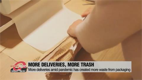 疫情肆虐網購夯 塑膠包裝成環境殺手
