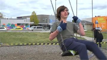 盪鞦韆拚世界紀錄 紐西蘭少年連盪33小時
