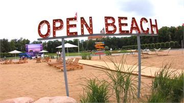 市中心就有沙灘!立陶宛首都打造人工海灘讓民眾解悶