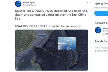 快新聞/美2架超音速轟炸機掠過台灣東北角 國防部回應了