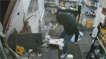 休旅車連根拔起ATM 美俄亥俄州兩嫌犯搶劫全都露