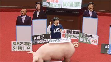 藍委占議場要求為開放萊豬道歉蘇揆火力全開 怒嗆傲慢又心虛