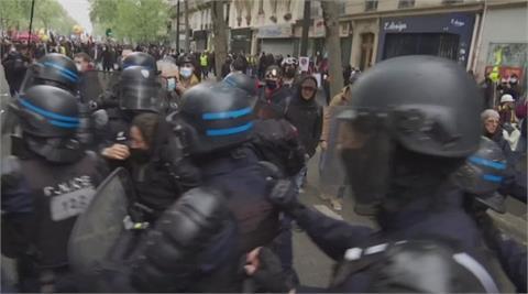 國際五一勞動大示威 德法土爆警民衝突