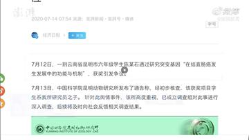 中國小學生研究癌症獲獎  父母操刀被取消得獎資格