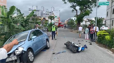 快新聞/台東逾百公斤騎士 遭轎車撞飛高2公尺重跌香蕉園裡