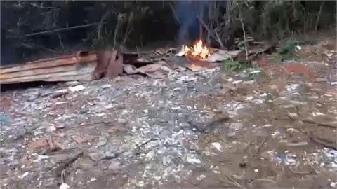 山區燃燒廢棄物  科技蒐證無所遁形