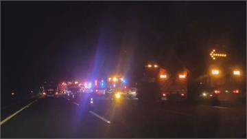國道苗栗路段不平靜2起大車事故釀3傷