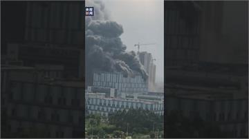 華為東莞研發實驗室大火! 濃煙沖天 員工緊急疏散