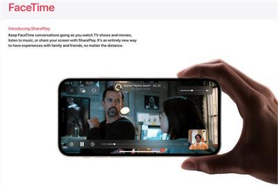 蘋果預覽iOS 15新功能 FaceTime可共享體驗