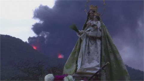 西班牙拉帕馬島火山噴發滿月 專家:還看不到盡頭