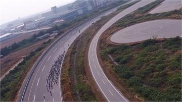 車輛測試中心變自行車賽道 三千車友騎聚競速