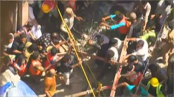 印度孟買百年大樓突崩塌 至少13人死亡