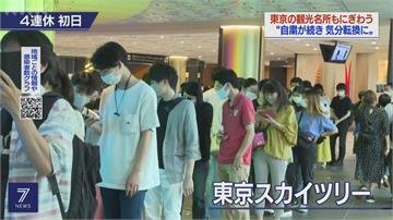 日本四連休「人潮出籠」東京晴空塔展望台半價搶客