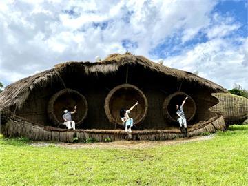 巨大《豆莢幽浮》 降落宜蘭傳藝園區