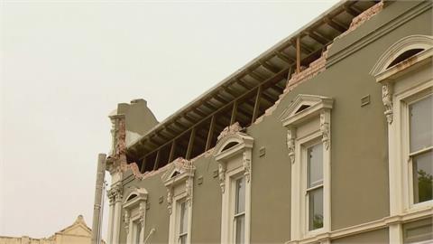 澳洲規模6.0地震狂晃20秒 馬路滿地破碎瓦礫