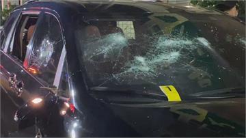 清晨暴力砸車 茶行外休旅車遭殃車主睡夢中驚醒 警方鎖定嫌犯追緝