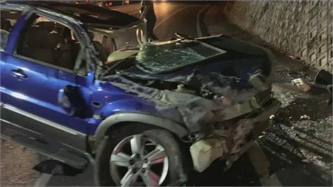 休旅車擠6人! 柔道國手載友人出遊 超載疑又超速自撞1死5傷