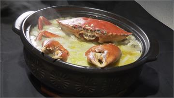 夏日生猛海鮮盛產!霸氣螃蟹粥料多到滿出來