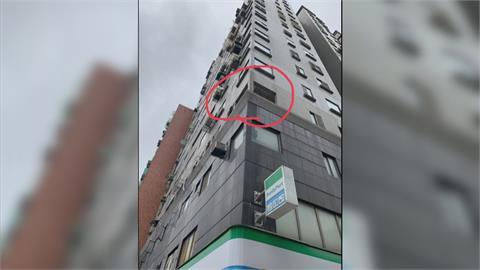 施工裝修窗台無防護 無辜路人慘被磚瓦砸傷