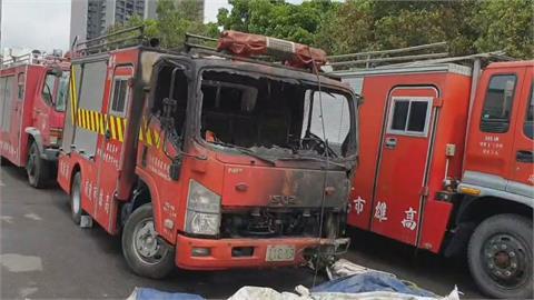 田寮竹林火警!消防車慘遭波及 1消防員灼傷