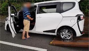 快新聞/警方盤查可疑轎車遭衝撞 開20幾槍打爆輪胎逮獲4人與毒品