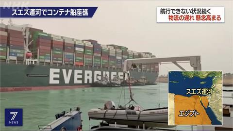 長賜號最新進度 埃及打算用拖船協助脫淺