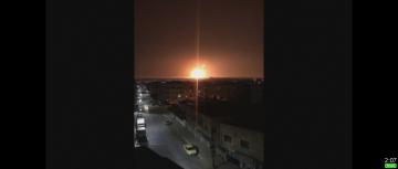 疑電線走火  約旦基地彈藥庫大爆炸