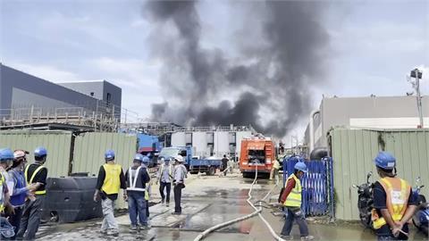 南科再生水廠工地火警 緊急救出2工人 疏散逾200名工人