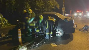 大學生開車夜遊撞護欄  路況不熟?駕駛一度受困車內
