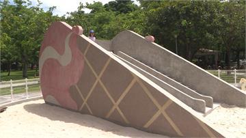 視察新款「甜筒溜滑梯」 林佳龍指出「這個」缺點