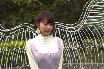 林明禎化身天使!北門站「翅膀花燈」前和熊讚浪漫共舞