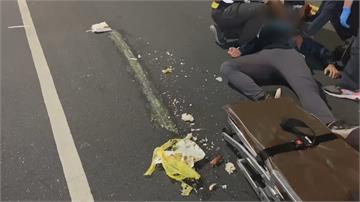 高中生穿越馬路被撞飛頭也沒回!廂型車駕駛飛快肇逃