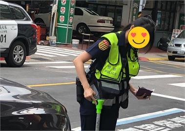 Andy老爹友「愛車被刮」報警見她秒消氣 「清純女警」本尊回應了!