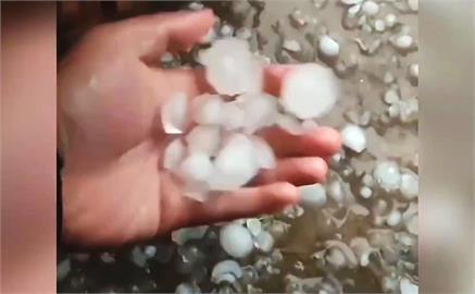 冰雹暴風雷雨輪番上陣! 中國遼寧、河南、甘肅傳災情