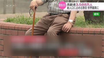 65歲人口3588萬人!日本高齡人口創新高