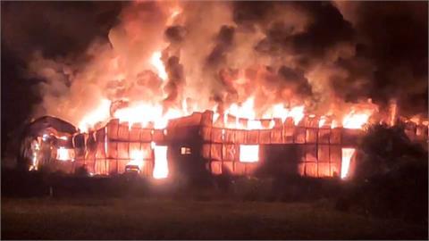 蘆竹鐵皮工廠大火 整個廠區陷入火海