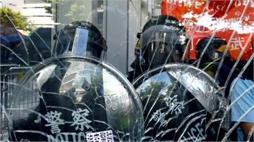 香港七一/反送中遊行衝突不斷升高 立法會首發「紅色警示」