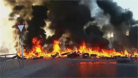 不滿紓困補助只給大公司 智利家計型漁民燒輪胎抗議
