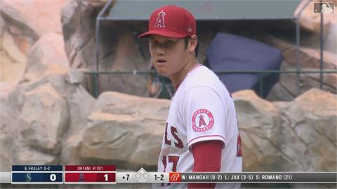 MLB/7局10K好投拿不到第10勝 大谷罕見砸球棒洩忿