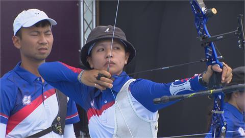 東奧台灣隊射箭女團登場 團體排名賽列第7